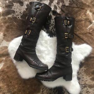 Stuart Weitzman Ludlow knee high leather boots 9
